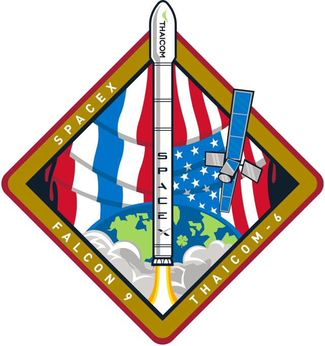 SpaceX THAICOM 6 Launch Patch