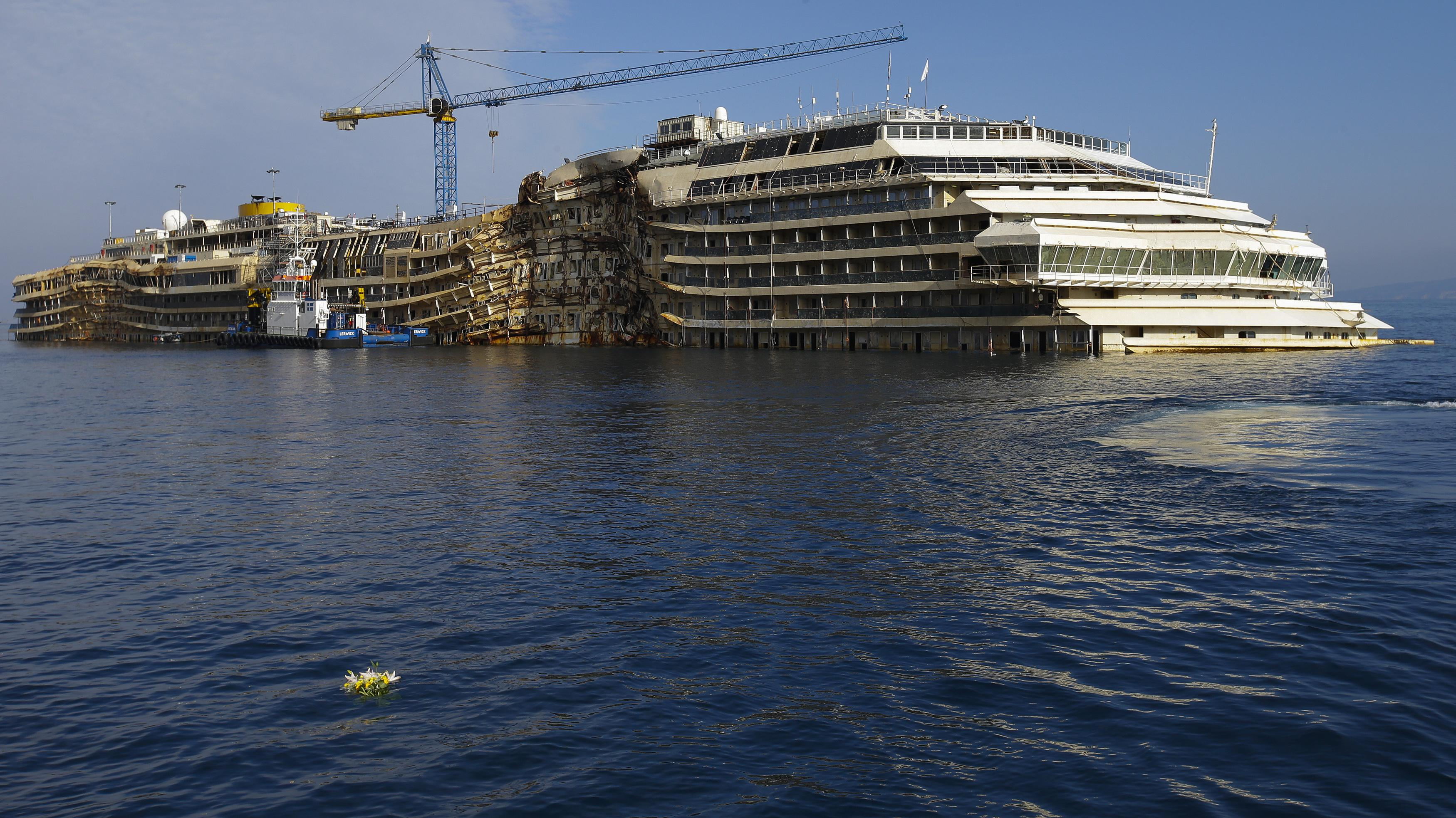 Costa Concordia Uprighted: Pictures Of The Parbuckled Ship