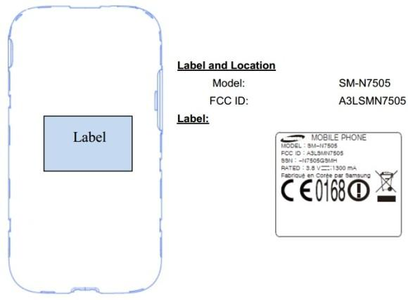 Galaxy Note 3 Neo FCC listing