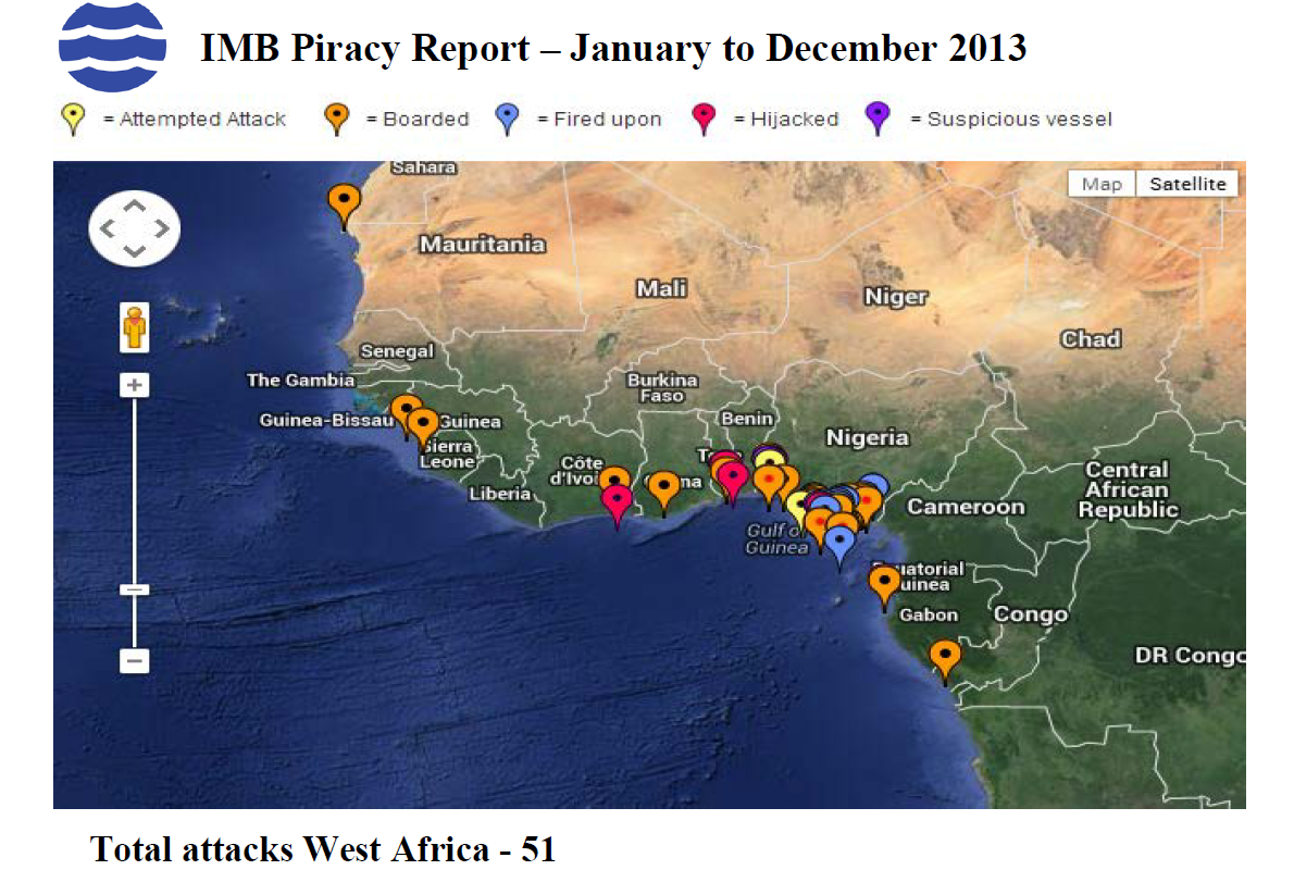 West africa piracy attacks
