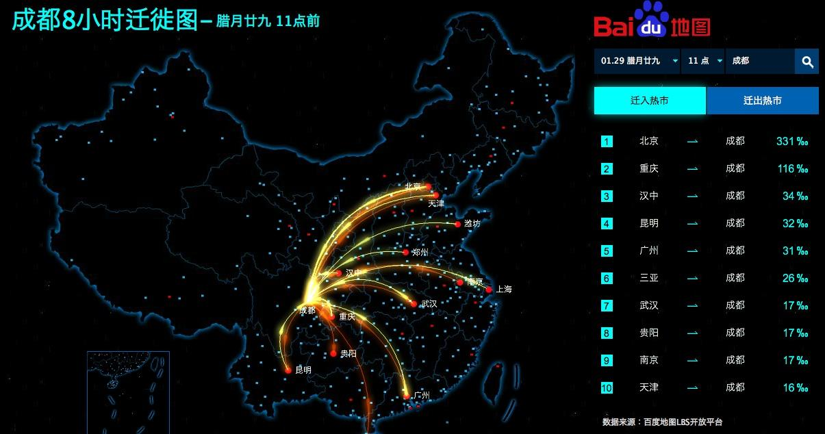 Baidu Heat Map