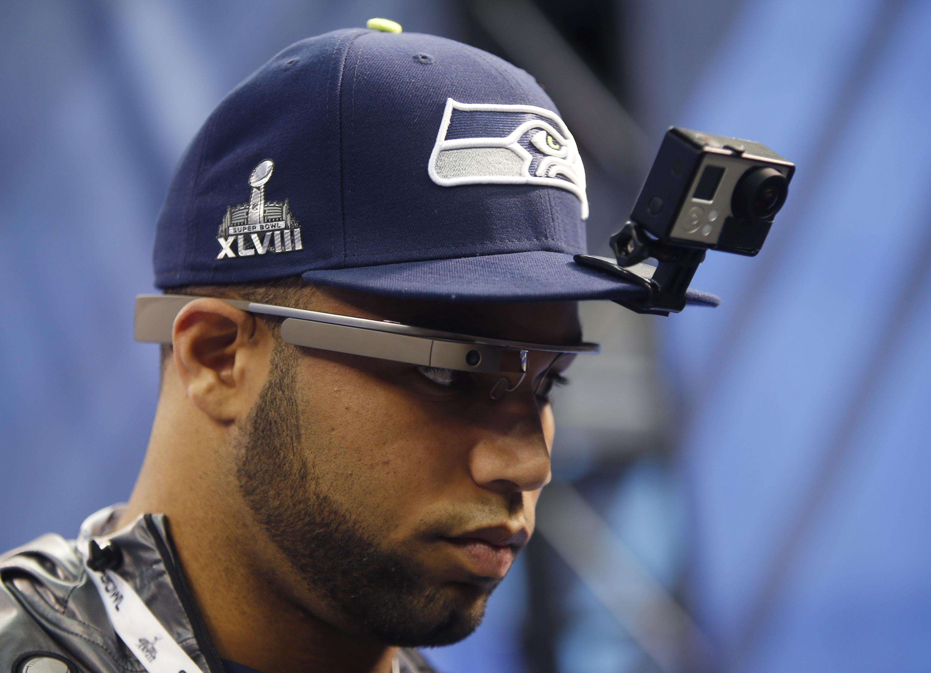 Super Bowl Golden Tate Google Glasses