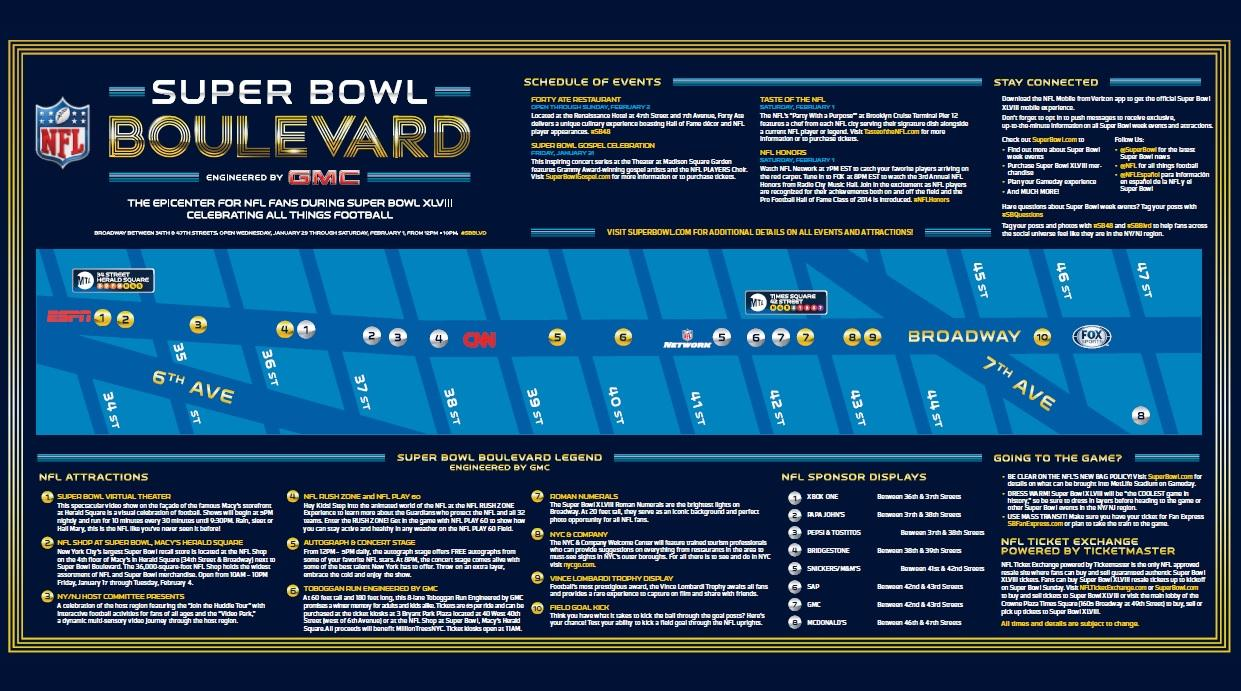 Super Bowl Boulevard  Times Square  Events 73cef5b72