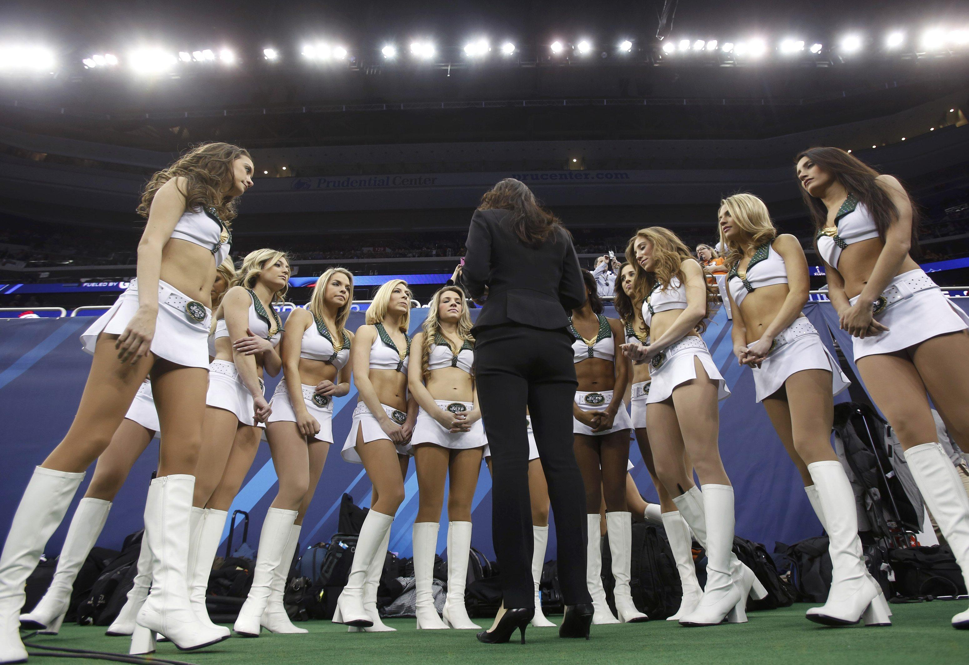 Super Bowl Media Day cheerleaders