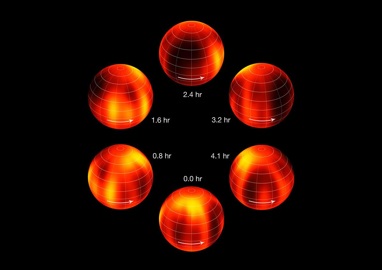 Surface Map Of A Brown Dwarf
