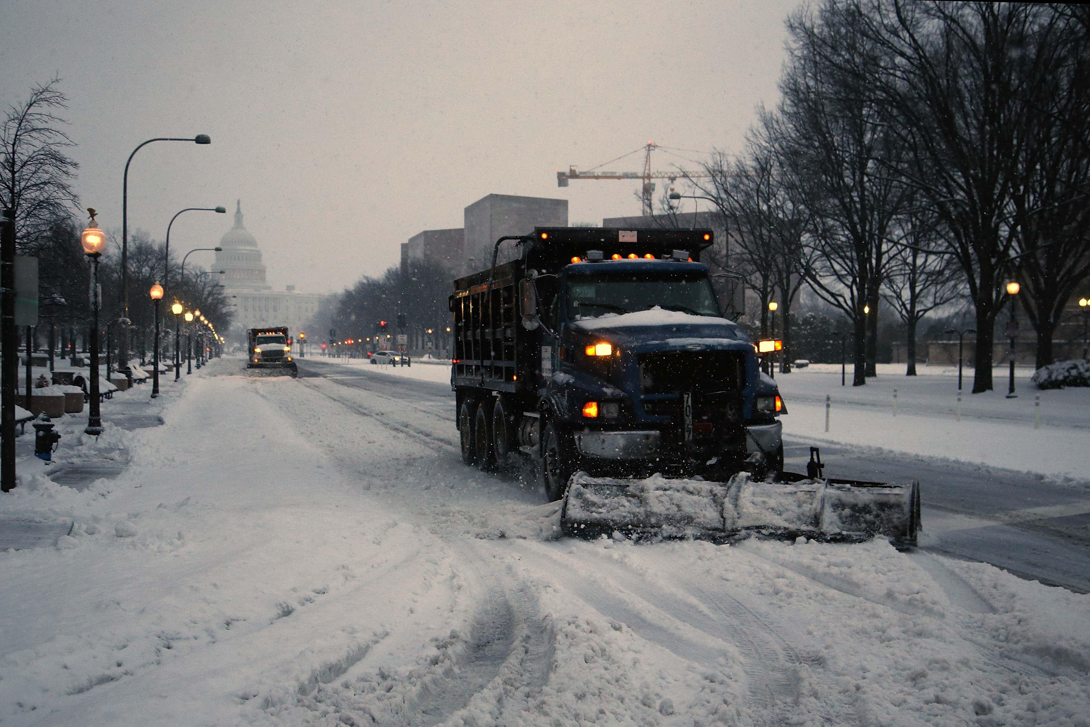 Winter Storm Pax D.C Plows