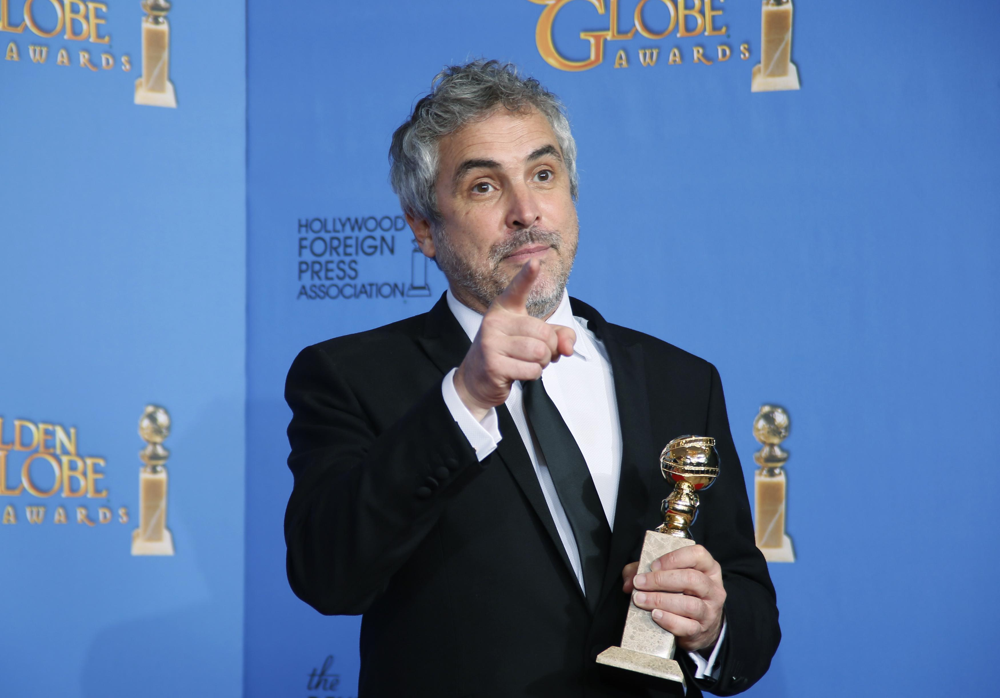 Alfonso Cuarón at Golden Globes