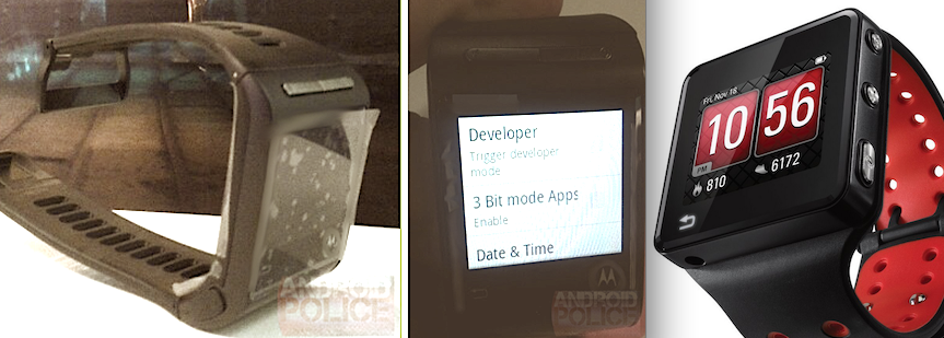 Motorola MotoActv Android Nexus Smartwatch Prototype Similarity