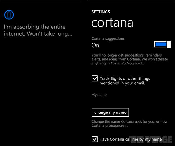 Cortana Windows Phone Xbox One Microsoft 8