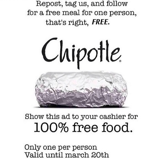 Chipotle coupon 2014