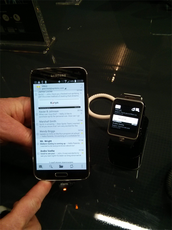 Spritz on Samsung Galaxy family of devices