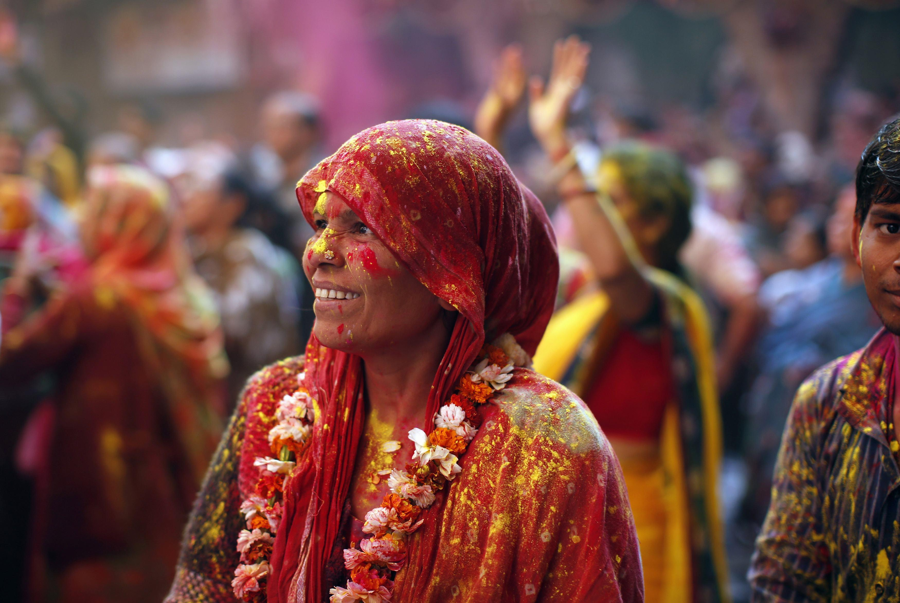 Holi Vrindavan Woman March 13