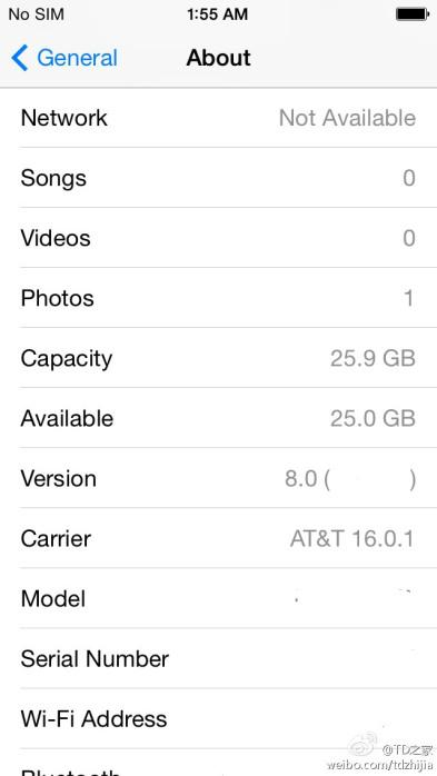 iOS 8 Settings