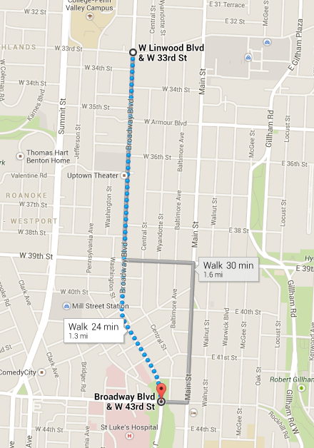 Kansas City St. Patrick's Day Parade 2014 Route Map