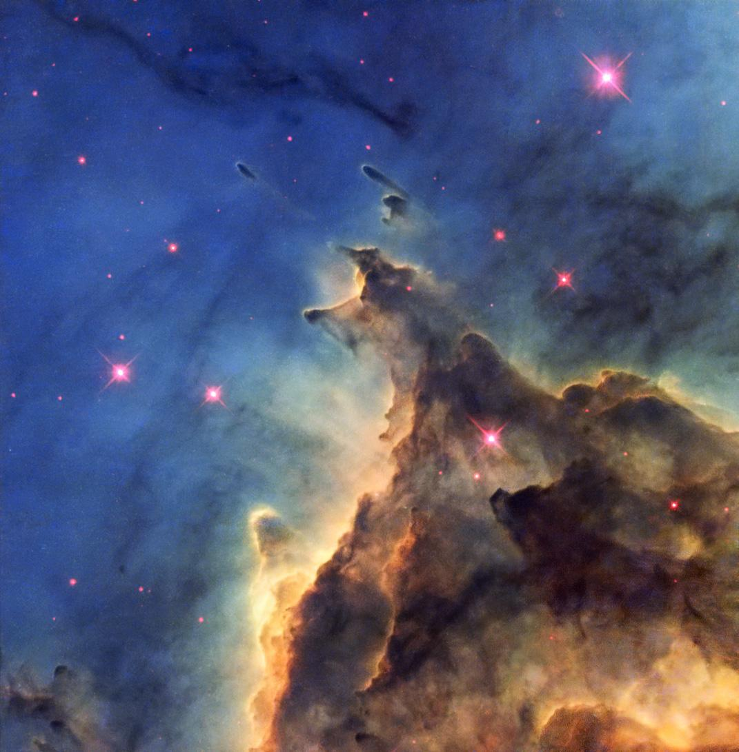 Hubble's Monkey Head Nebula Image From 2001