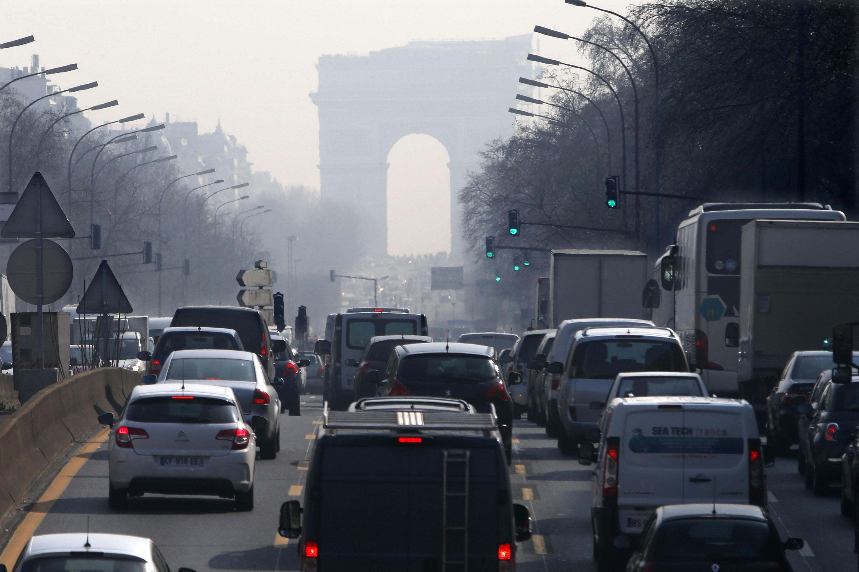 March 13 Paris Rush Hour Traffic