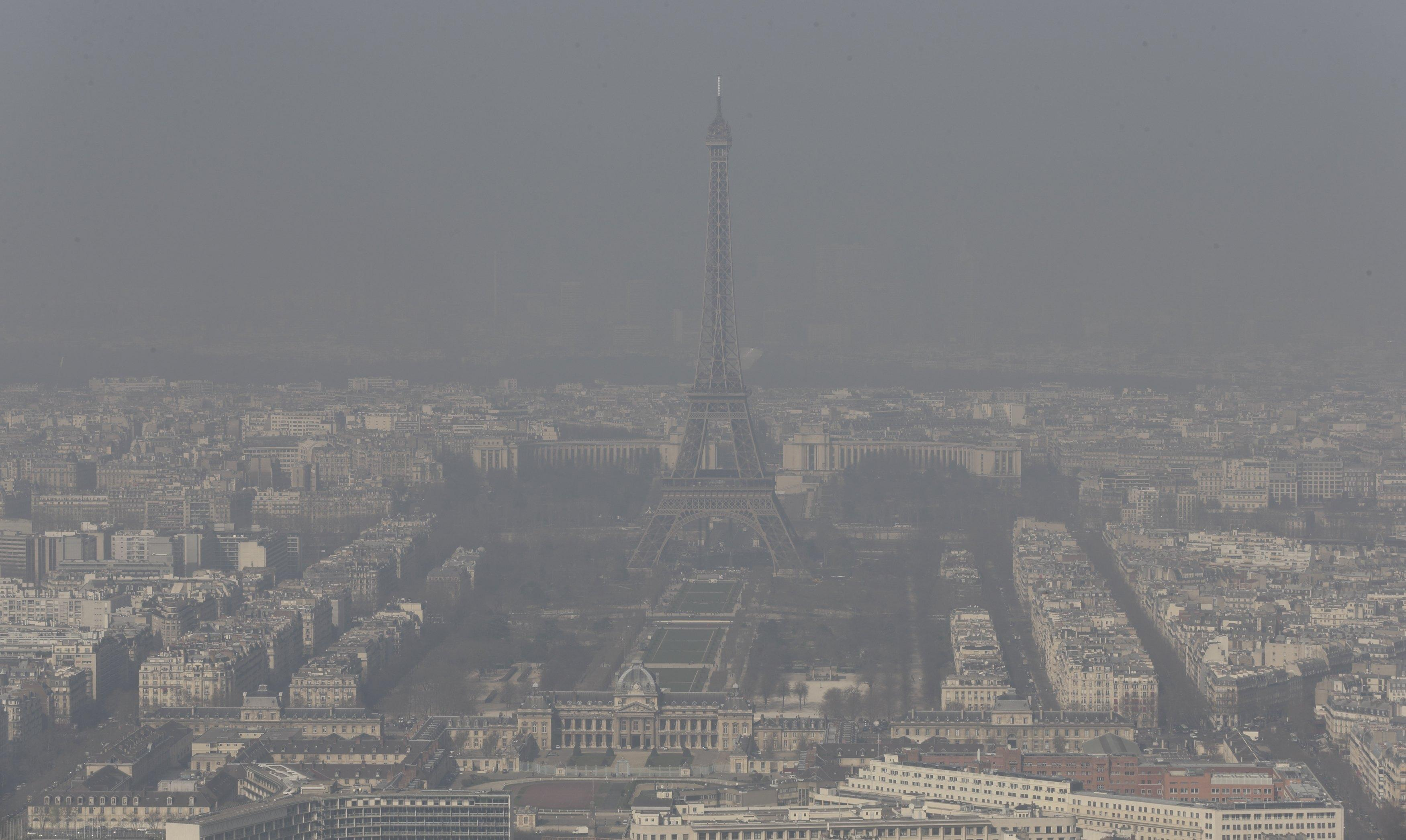 Paris Pollution Haze March 13