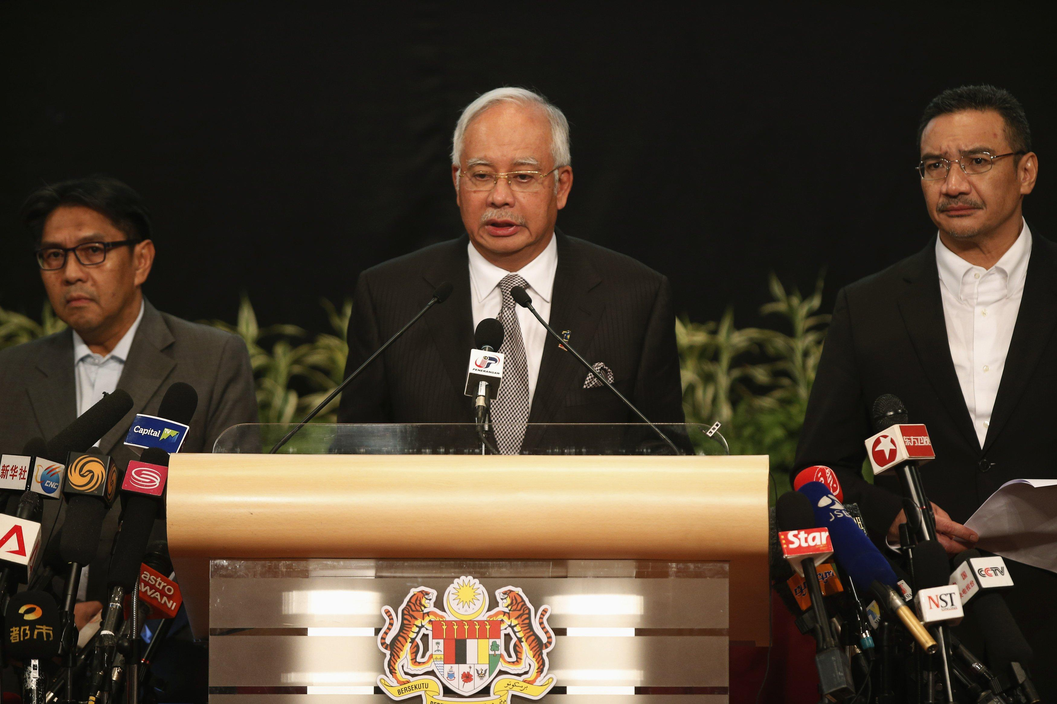 Najib Razak briefing march 24