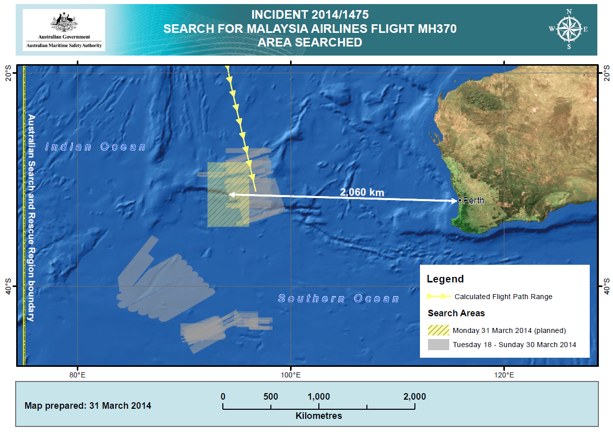 mh370 search area mar 31
