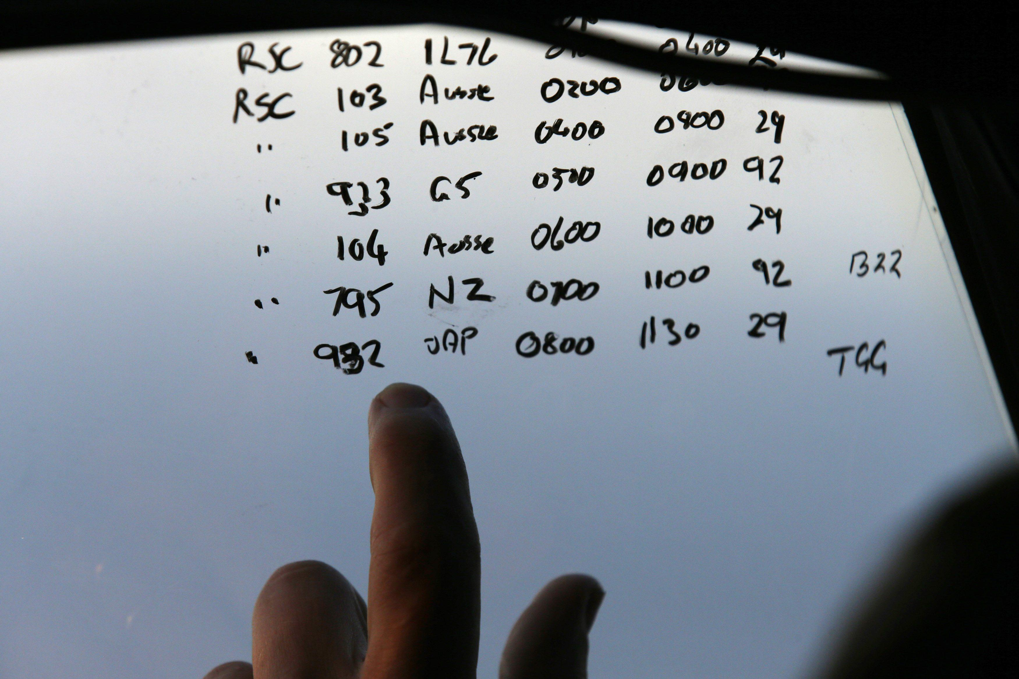 MH370 search scribbles March 29
