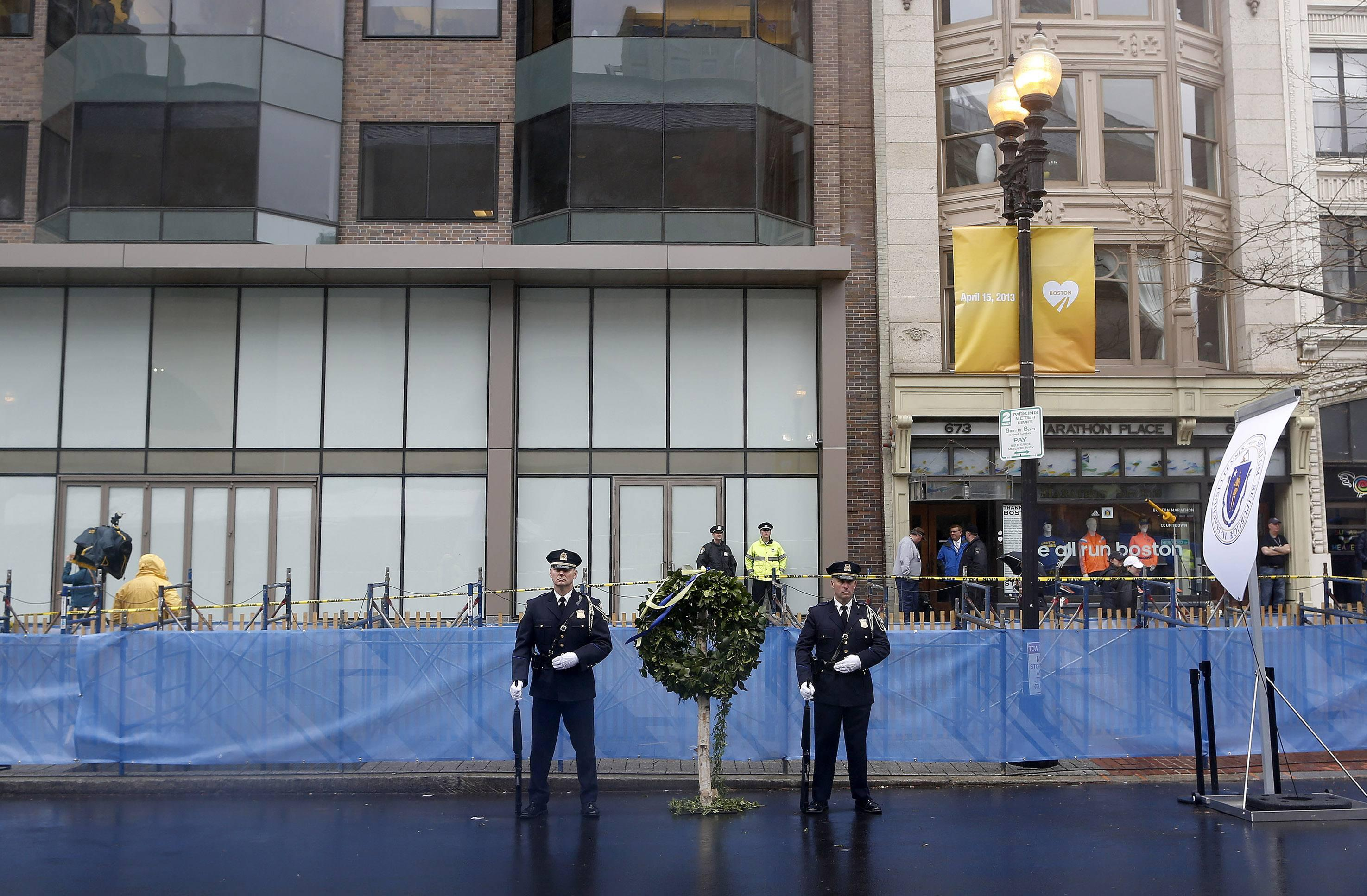 Boston Marathon Bombing Memorial - Wreath Wide