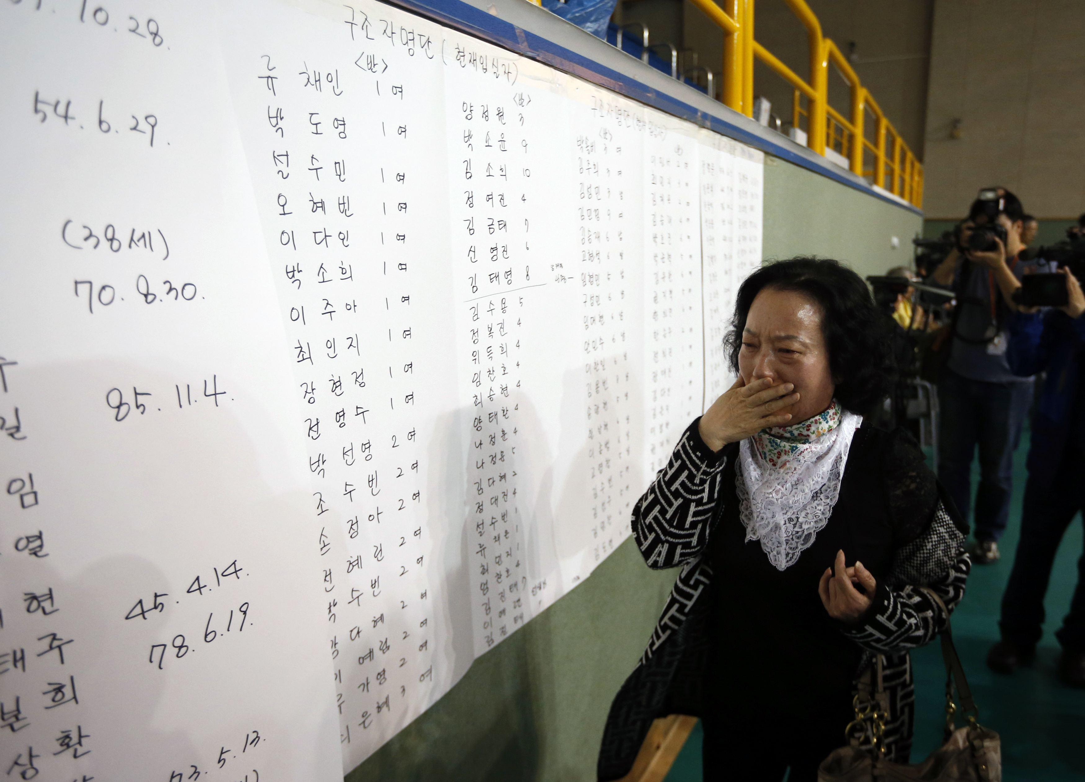 South Korea Ferry - Sewol Board