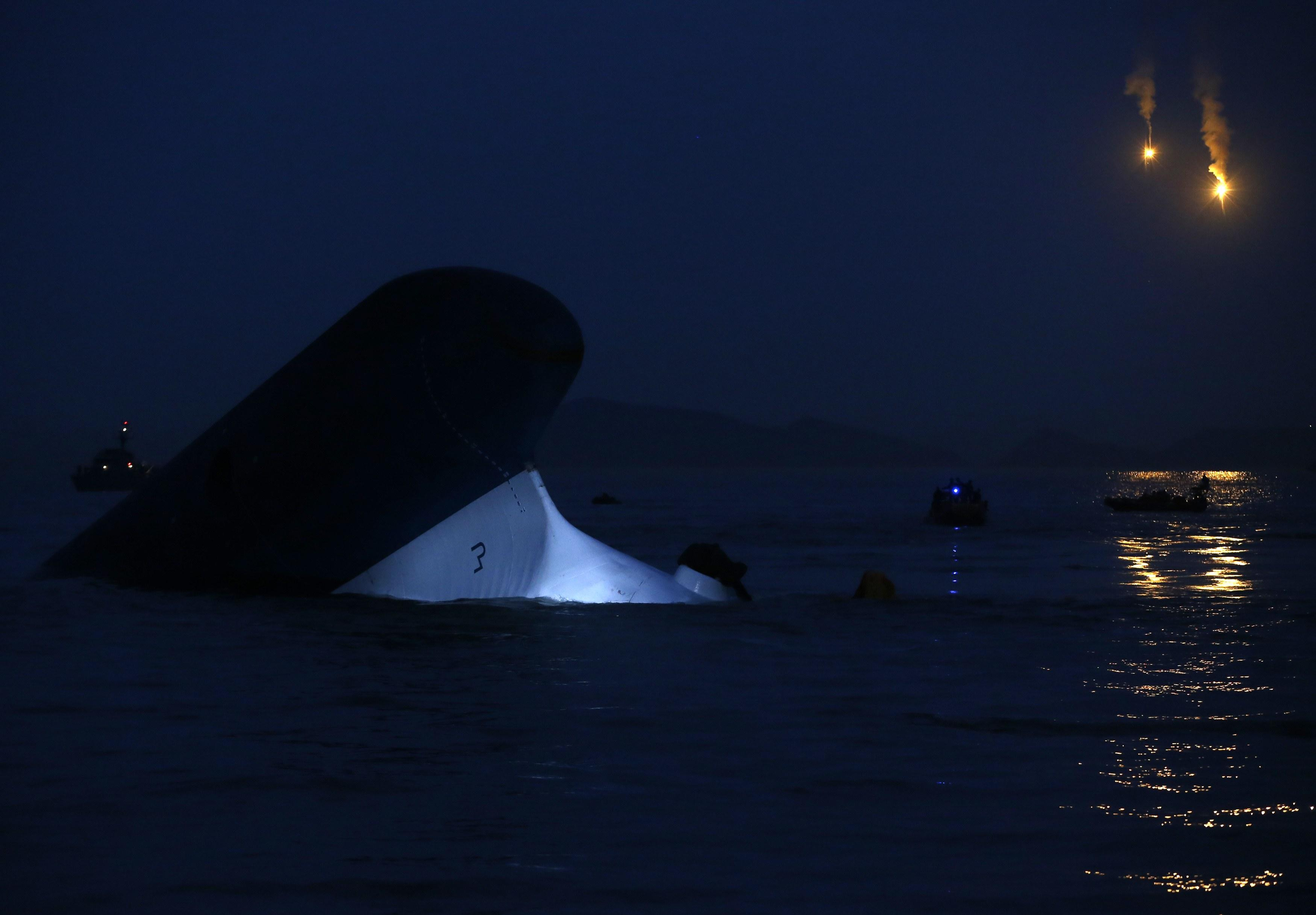 South Korea Ferry - Sewol Sinking Deeper