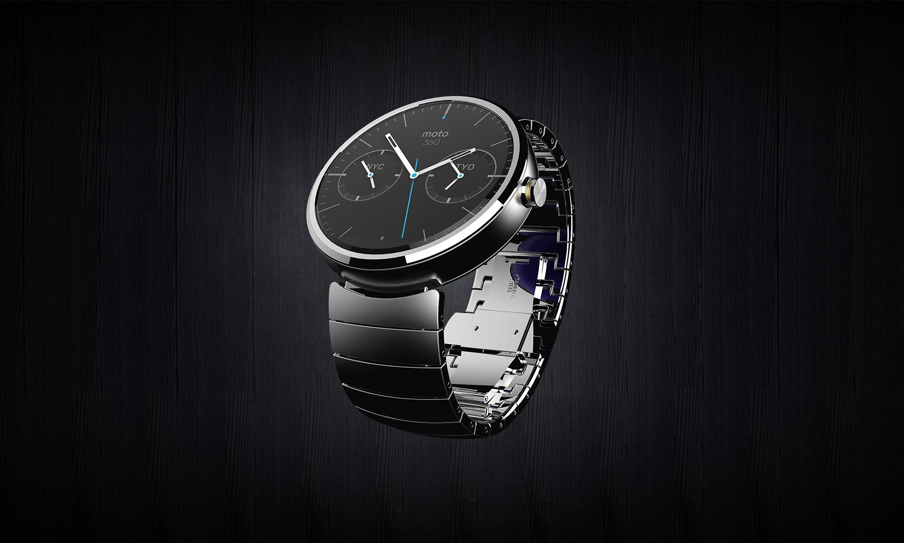 Moto 360 press shot metal band