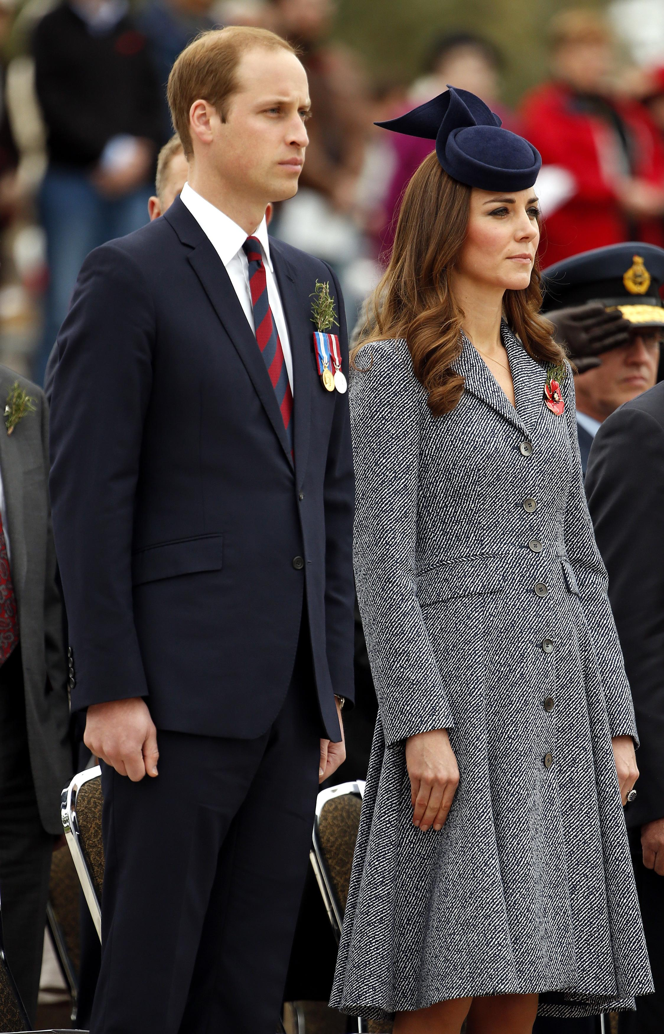 April 25 at Anzac Day remembrance service: Michael Kors dress