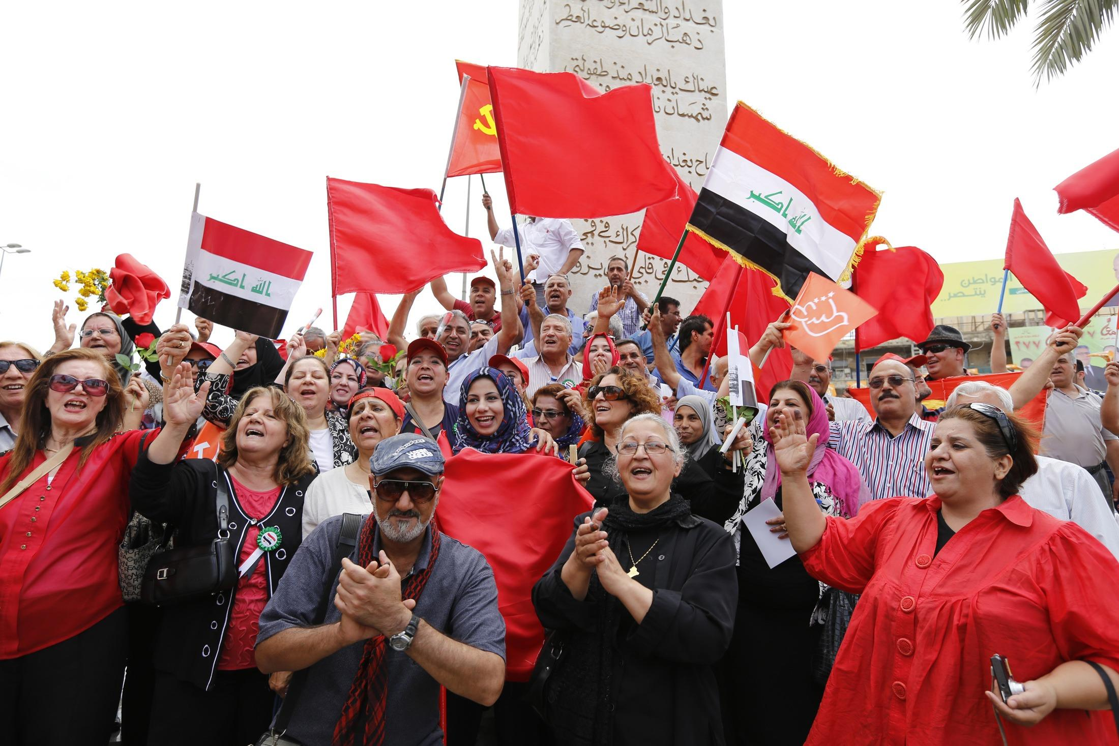May Day Baghdad Supporters