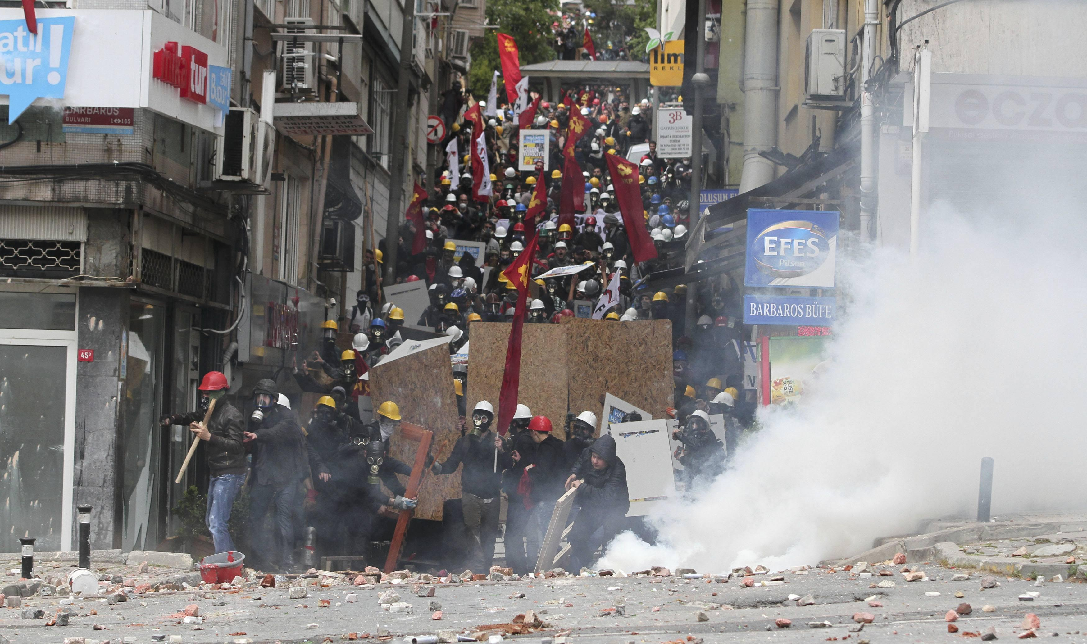 May Day Istanbul Tear Gas