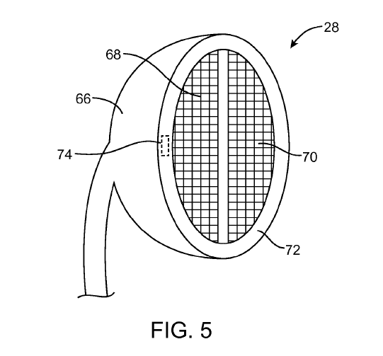 d8aad296197 An illustration of an earphone with with an embedded sensor from a USPTO  filing by Apple, which was published on Thursday Photo: USPTO