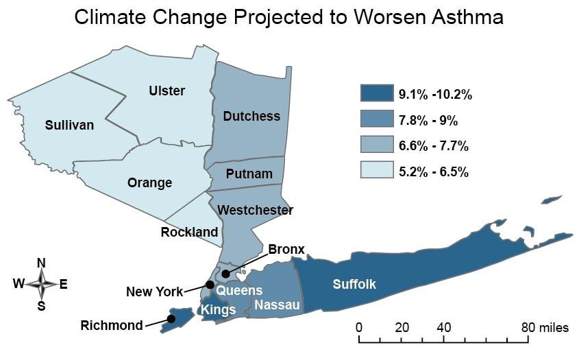 Figure: Projected Climate Change Worsens Asthma