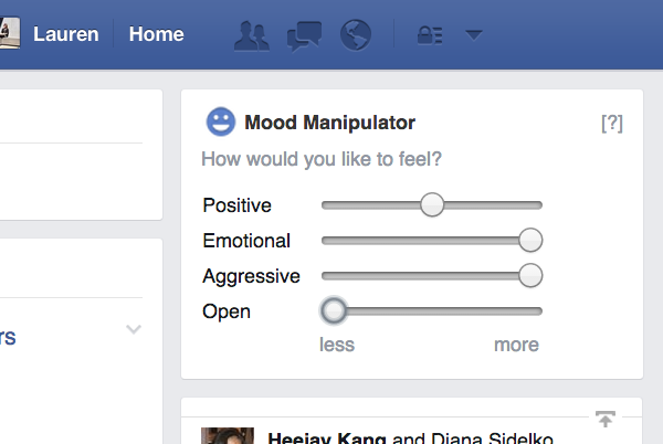 Facebook Mood Manipulator Extension