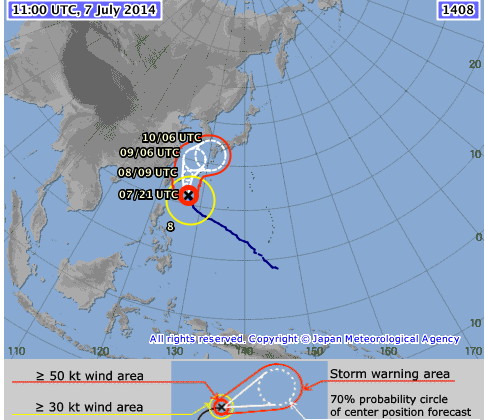 Typhoon Neoguri Tracker