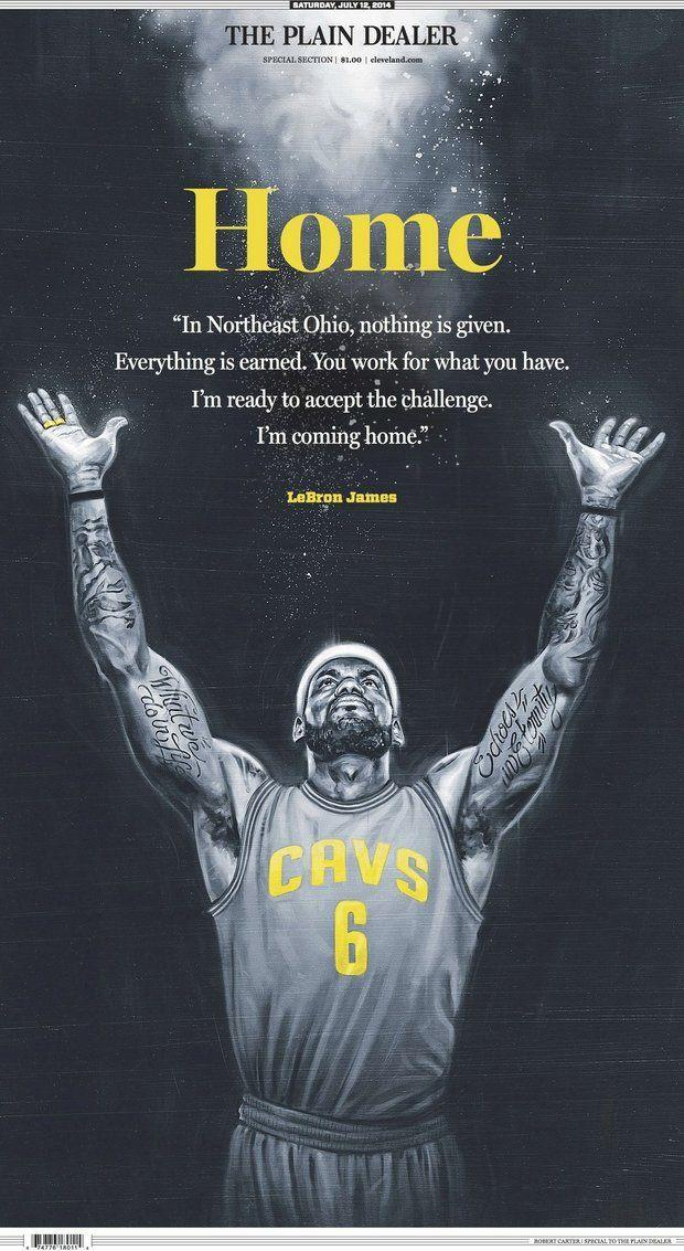 LeBron James Cleveland Cover