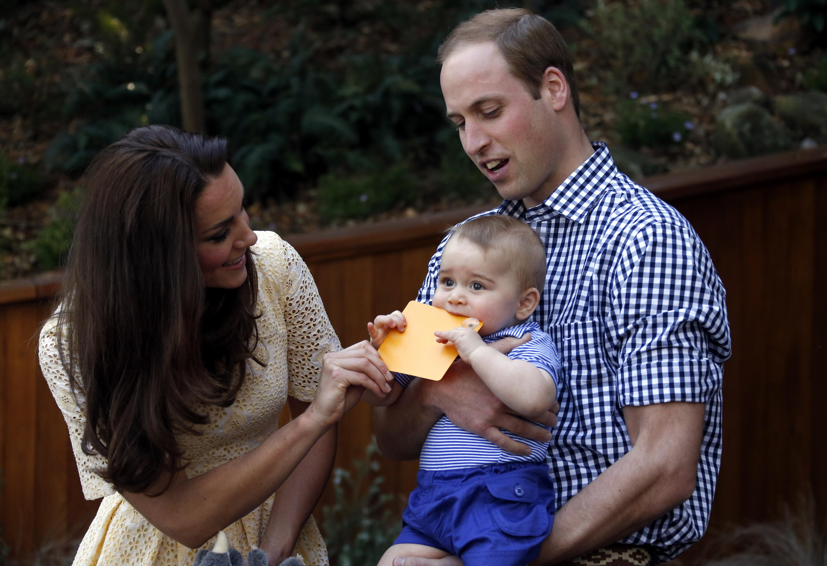 Prince George hungry
