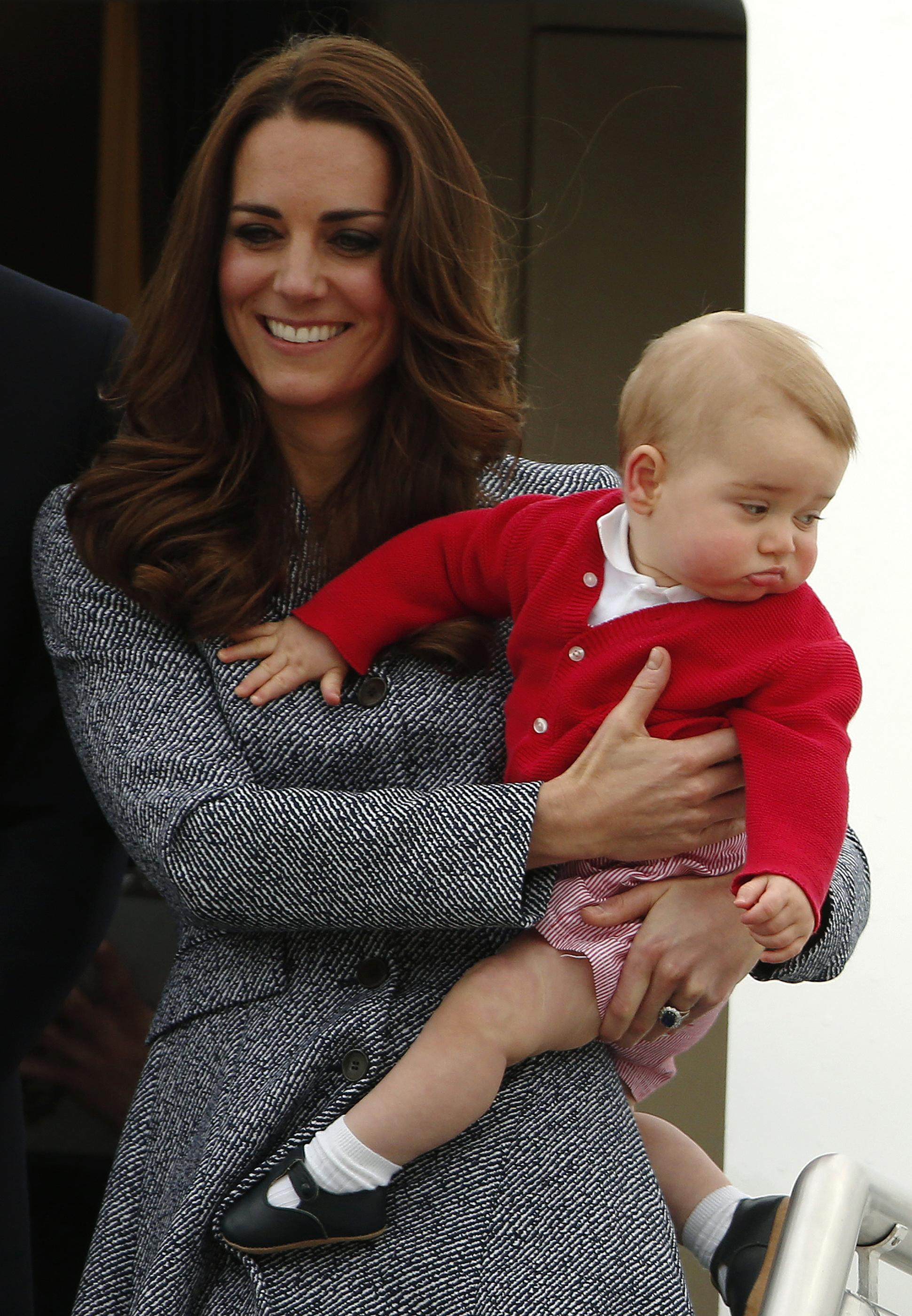 "Prince George's ""over it"" face"