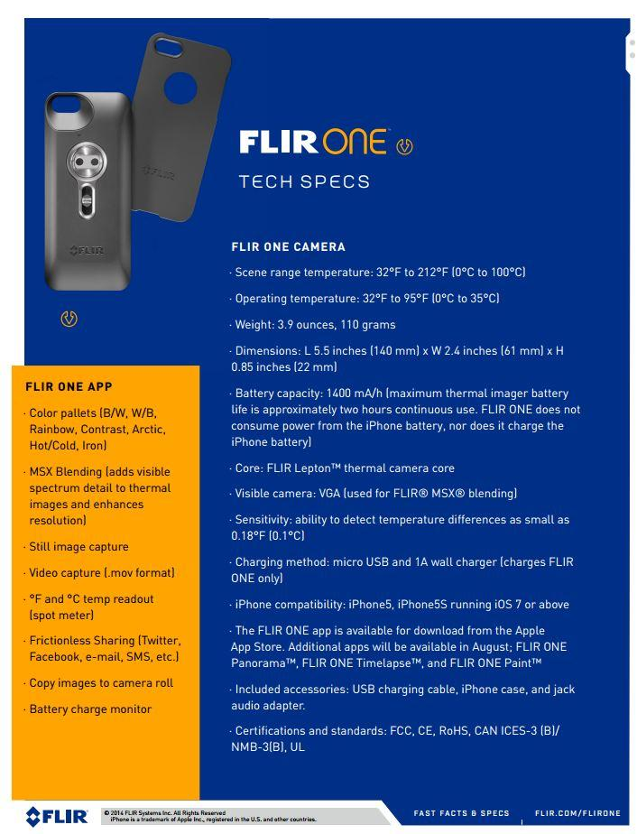 Flir-One-specifications