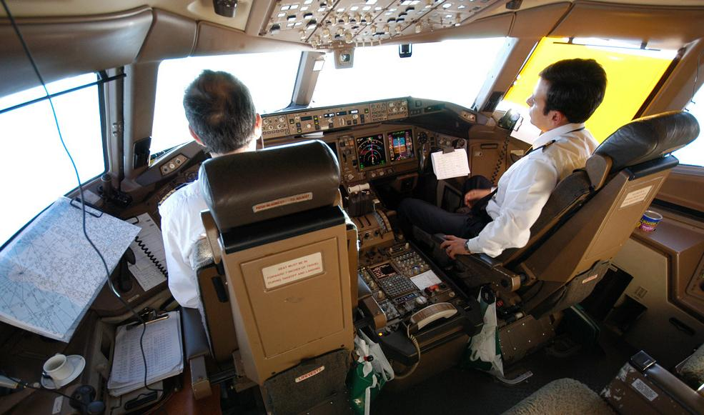 777 Alitalia Flight Deck