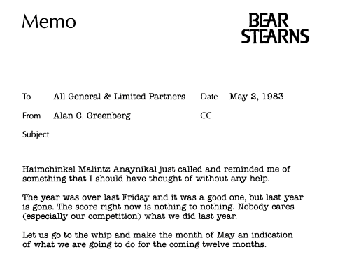 Ace Greenberg Memo5