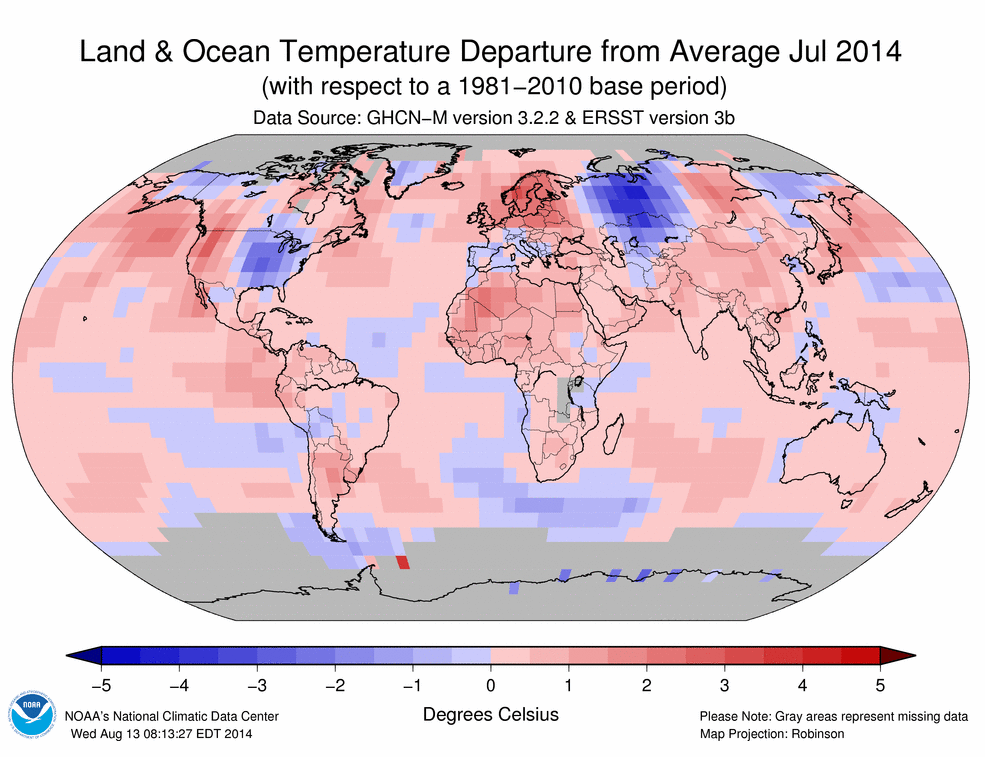 July 2014 Temperatures