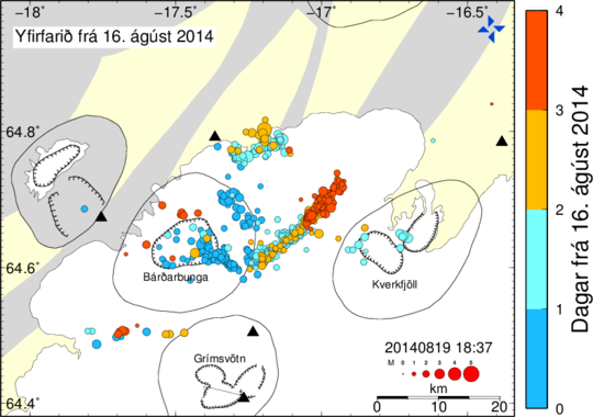 Iceland Bardarbunga Earthquake Activity August 2014