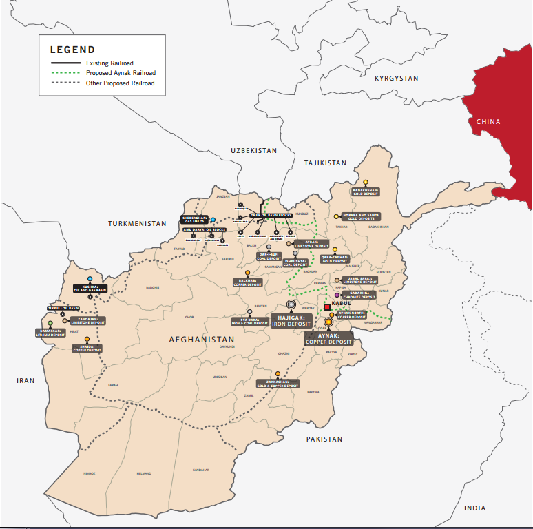 Afghanistan Map via Global Witness