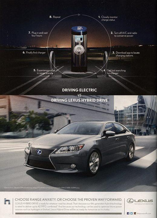 Lexus Ad Against Evs