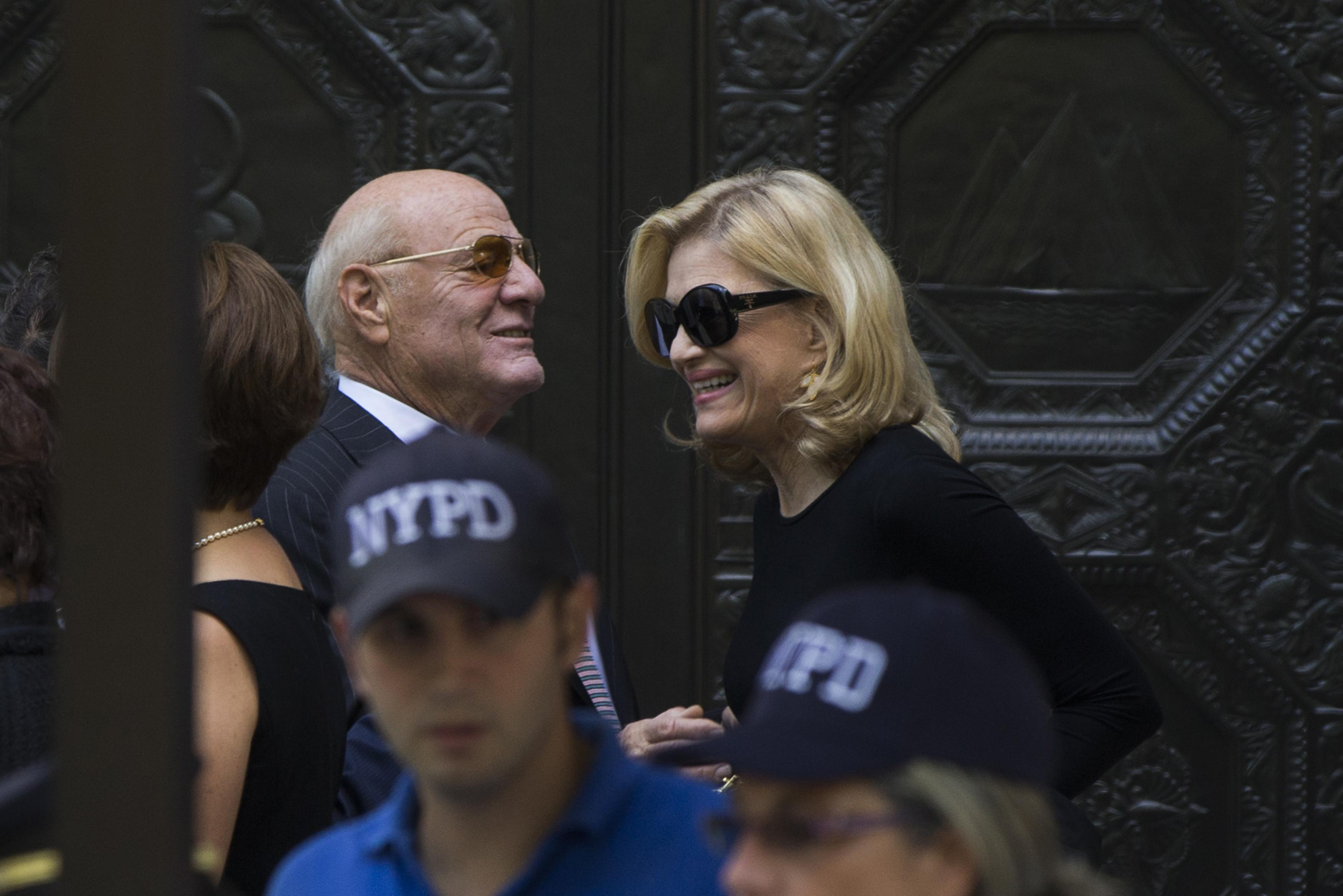 Joan Rivers Funeral: Barry Diller and Diane Sawyer
