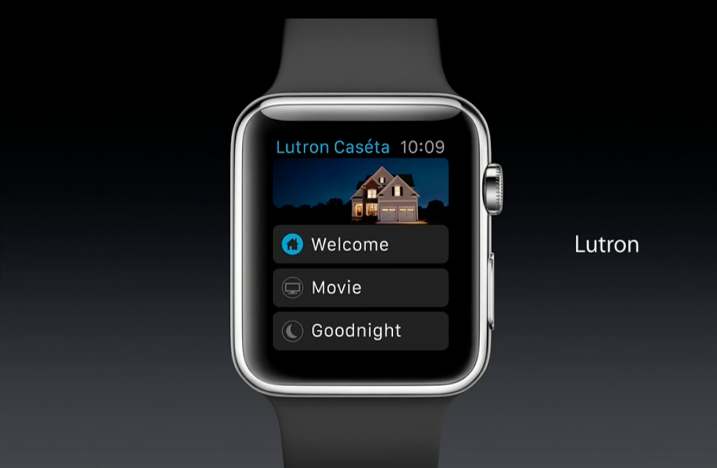 apple watch apps features lutron