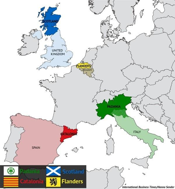 European Countries With Separatist Movements