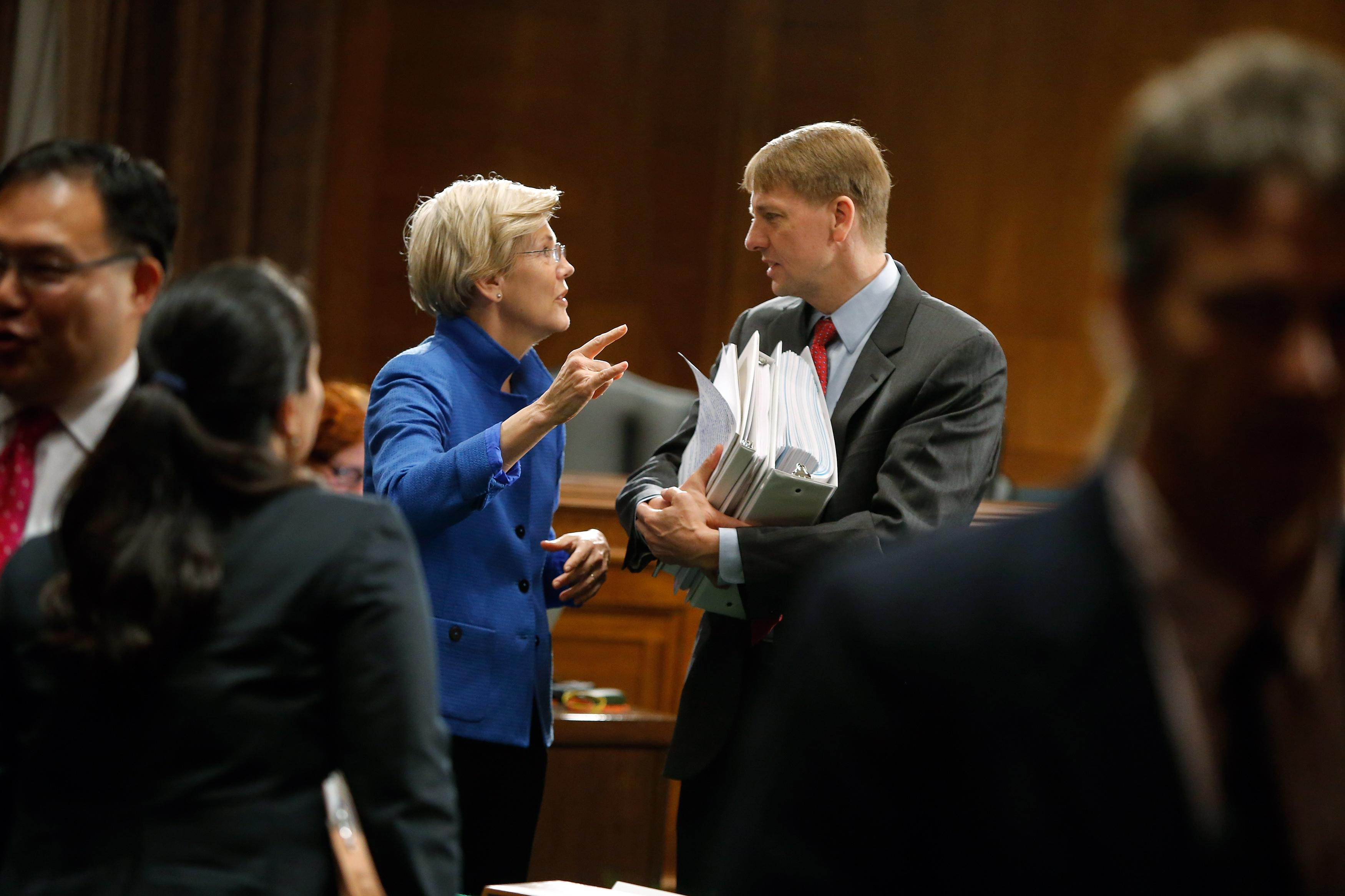 Elizabeth Warren, Richard Cordray, CFPB