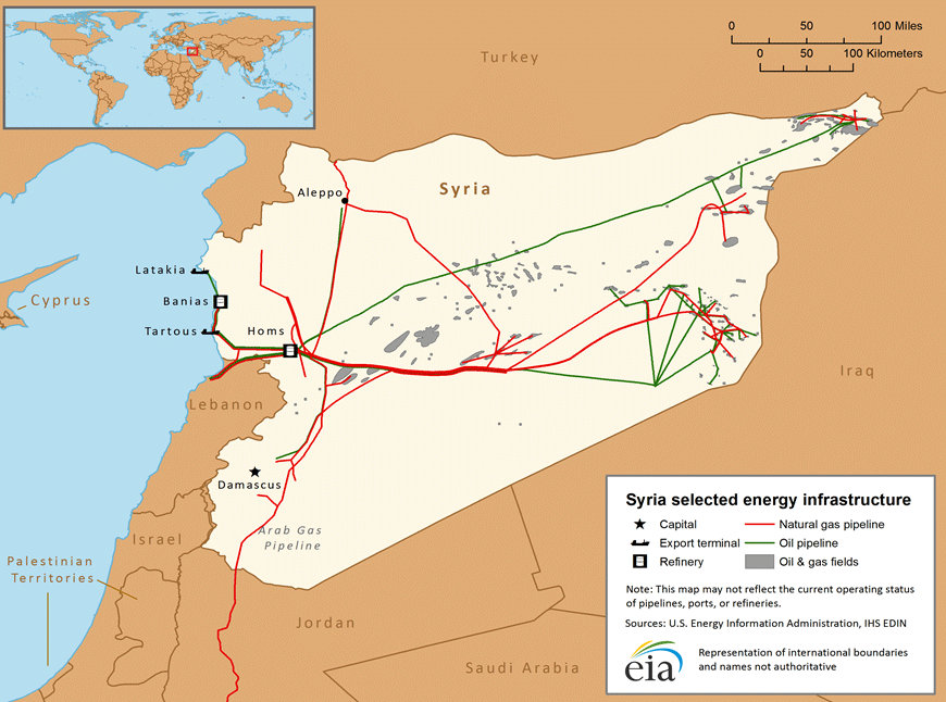 Syria Oil Infrastructure Map
